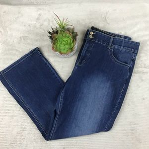 Lane Bryant Straight Bootcut Tighter Tummy Jeans